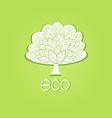 ornamental tree eco-label vector image vector image