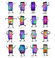 phone emojji smartphone emoticon character vector image vector image