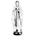 praying virgin mary vector image vector image