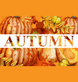 pumpkin watercolor autumn banner fall vector image vector image