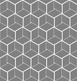 Seamless hexagonal line cube pattern vector image vector image