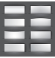Set of blank paper banners with shadows vector image