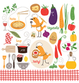 Set of cartoon food ingredient vector | Price: 3 Credits (USD $3)