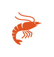 shrimp icon design template vector image