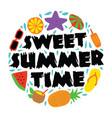 sweet summer time 100 best for print design like vector image vector image