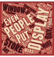 The Art Of Display text background wordcloud vector image vector image