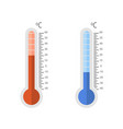 thermometers set cold and hot on a white vector image