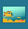 transportation submarine flat design colored vector image vector image