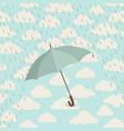 umbrella over rain cloudy sky clouds pattern vector image vector image