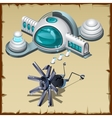 Underwater research station detail and robot vector image vector image
