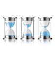 Water falling in the hourglass vector image