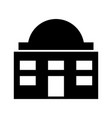 white house isolated icon vector image vector image