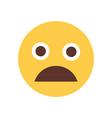 yellow cartoon face scream shocked emoji people vector image vector image