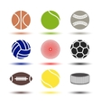 Icons balls vector image