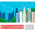 modern city landscape with high skyscrapers vector image