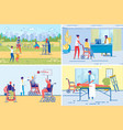 active disable or handicapped people lifestyle vector image