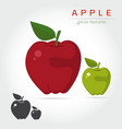 apples fruit vector image
