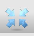 arrow icon set polygonal arrows colorful arrow vector image