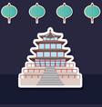 asia architecture design vector image vector image