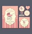 bashower girl invitation card vector image
