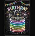 birthday invitation card cake vector image vector image
