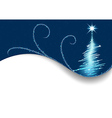 Blue Christmas Greeting Card vector image vector image
