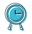 blue watercolor silhouette of clock icon vector image vector image