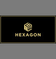 bm hexagon logo vector image vector image