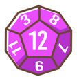 board game hexagonal dice role play competition vector image