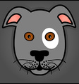 Cartoon grey dog vector image vector image