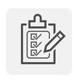 checklist icon black vector image