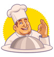 chef with okay hand sign vector image