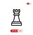 chess piece icon vector image vector image