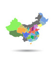 china map with province region flat on isolated vector image