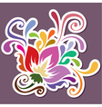 color swirly decoration in vector image