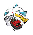 crazy bumper a car isolated on vector image