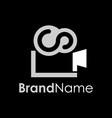 creative simple movie logo concept vector image vector image