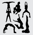 dance and sport silhouette vector image vector image