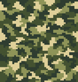 digital green camouflage vector image vector image