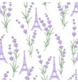 fabric pattern with lavender flowers vector image vector image