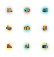 Factory icons set pop-art style vector image vector image