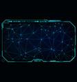 futuristic ui hud big data network screen monitor vector image vector image