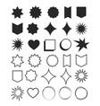 geometric shapes element design set symbol vector image