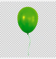 green helium balloon isolated on transparent vector image