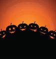 Halloween pumpkin background 0809 vector image