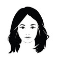 head a beautiful girl face a young vector image vector image