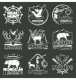 Hunting Club Emblem Set vector image vector image
