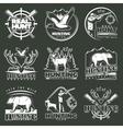Hunting Club Emblem Set vector image vector image