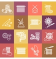 Knitting icons set vector image vector image