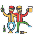 male alcoholism drunk people drunken party men vector image vector image